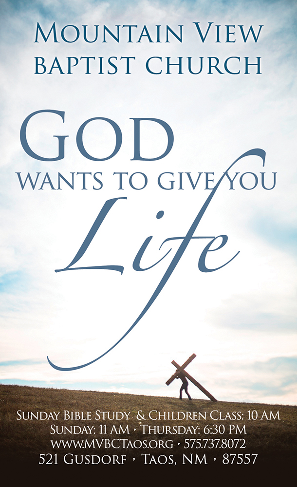 God Wants To Give You Life: Church Invitation